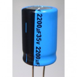 2200-35R Electrolytic Capacitor, Radial Lead 2200uf 35v, Lelon