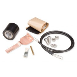 241088-9  Standard Grounding Kit for 1-5/8 in corrugated coaxial cable and elliptical waveguide 52 and 63