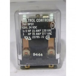 268DPDT24 Relay, dpdt 24vdc 15 amp, Deltron