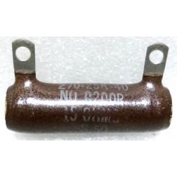 270-25K-40  Wirewound Resistor, 15 ohms 25 watts, Ohmite