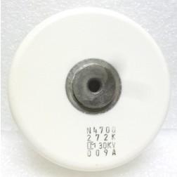 272K Doorknob Capacitor, 2700pf 30kv. Mfg: Murata