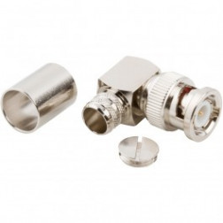 31-6004-RFX BNC Male Crimp Connector, Right Angle,  Cable Group I, Amphenol