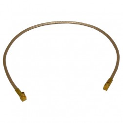 """316RMMRMM-10 Pre-Made CABLE ASSEMBLY, 10"""" RG316 W/R.A. MMCX(M)--R.A. MMCX(M)"""