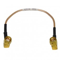 "316RSMRSM-7G  Pre-Made Cable Assembly, 7"" RG316 with Right Angle SMA on Both Sides"
