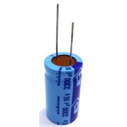 3300-16R Electroylic Capacitor, Radial Lead, 3300 uf 16v , Nichicon