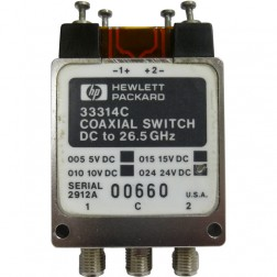 33314C Coaxial Switch, DC to 26.5 GHz, SMA, Hewlett Packard