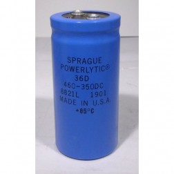 36D461F350 Capacitor 460 uf 350v can, Computer Grade. Mfg: Sprague