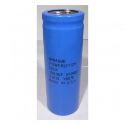 36DY1500-450  Electrolytic Capacitor, 1500uf 450v, Computer Grade, Sprague