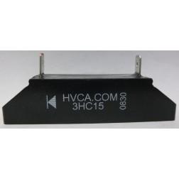 3HC15 HIGH VOLTAGE RECTIFIER BLOCK WITH MOUNTING SLOTS, 1.4 amp,15kv-piv (21050)
