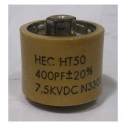 580400-7P Doorknob Capacitor, 400pf 7.5kv 10% (Clean Used).  High Energy