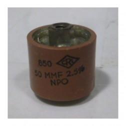 580050-5P Doorknob Capacitor, 50pf 5kv, Clean pullout  (HT50V500KA)