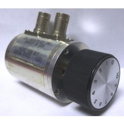 50R-019  Attenuator, Rotary, 0-10dB -0.1dB steps, DC-2200 MHz, 2 Watt, BNC Female Connectors, JFW (Used Condtion)