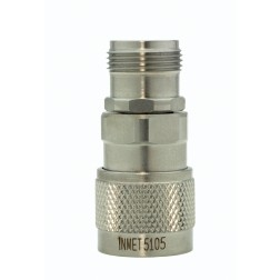 5105 In Series Adapter, Type-N Male/Female, 0-18 ghz, Stainless Steel, API/Inmet