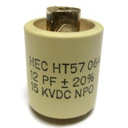 570012-15 Doorknob Capacitor, 12pf 15kv, Mfg; High Energy
