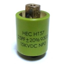 570025-15P-20 Doorknob Capacitor, 25pf 15kv (Clean Used) 20%, Mfg:  High Energy