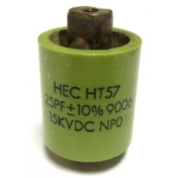 570025-15P-10 Doorknob Capacitor, 25pf 15kv (Clean Used) 10%