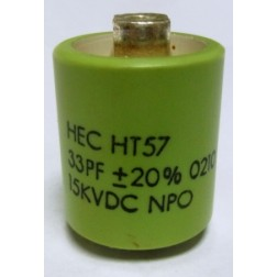 570033-15 Doorknob Capacitor, 33pf 15kv, Mfg: High Energy