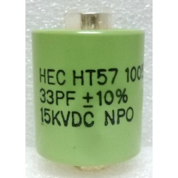 570033-15 Doorknob Capacitor, 33pf 15kv,  High Energy