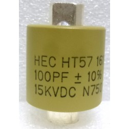 570100-15 Doorknob Capacitor, 100pf 15kv 10%,  High Energy
