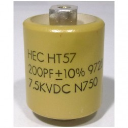 570200-7.5  Doorknob Capacitor, 200pf, 7.5kv (Large Size), High Energy NOS