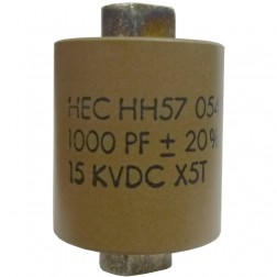 571000-15 - Doorknob Capacitor 1000pf, 15kv, High Energy