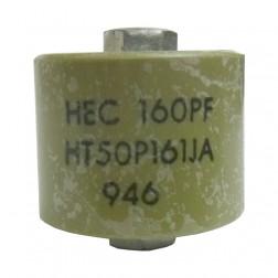 580160-5P Doorknob Capacitor, 160pf 5kv, Clean pullout
