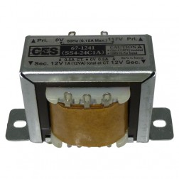 671241 Low voltage transformer, 117VAC/60cps 24vct, 0.5 amp, (67-1241) CES