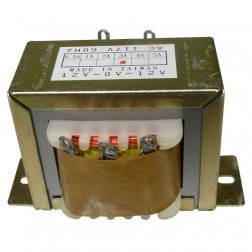671243  Low voltage transformer, 117VAC/60cps 24vct, 1.5 amp, (67-1243) CES