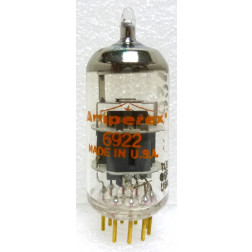 6922-AMP-GOLD  Audio Tube, 6922 /E88CC, Gold Pin (PQ), Amperex USA