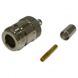 82-6158 - Type-N Female Crimp Connector, Straight, (Industrial Version), Cable Group: X, Amphenol/RF
