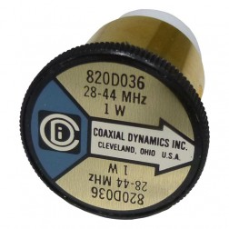 CD820D036  Wattmeter Element,  28-44 MHz 1w, Coaxial Dynamics