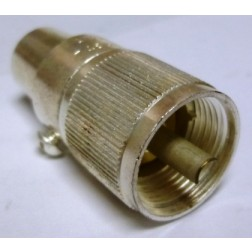 83-1SPN UHF Male Solder/Clamp Connector (PL259A), Cable Group E, F, Amphenol