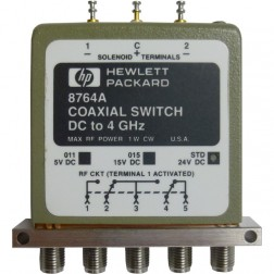 8764A Coaxial Switch, DC to 4 GHz, SMA, Hewlett Packard