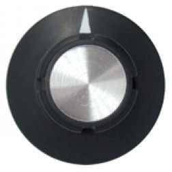 KNOB2I Tuning knob, black w/skirt