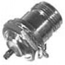 RFN1022  Type-N Female Bulkhead Connector, Front mount, No D Flat, RF Industries