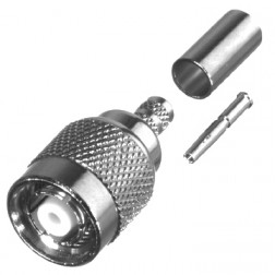 RP1202-C Connector, TNC Reverse Polarity Male, Cable Group C. RG58/U, LMR195, RF Industries