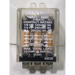 A283XCX252 Relay, 24vdc 5a msd inc