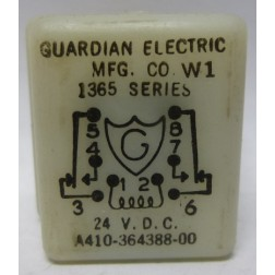 A410-364388-00  Relay, 1365 Series, 24vdc, Guardian