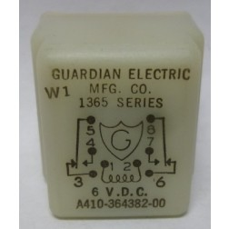 A410-364382-00; Relay, 1365 Series, 6vdc, Guardian