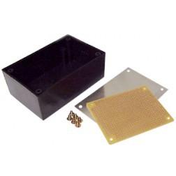 """BOX8922 Plastic project box w/Aluminum top, 3.25"""" x 2"""" x 1.375"""""""