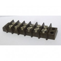 BTS6-15  Double Row Barrier Terminal Strip, 6 position, 15 amp