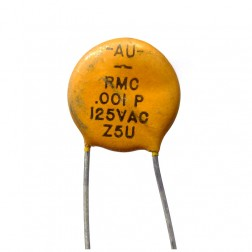 C102-125VAC Capacitor, disk .001uf-125v, Ac rated capacitor