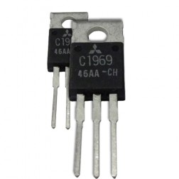 2SC1969MP NPN Epitaxial Planar Transistor, 27 MHz, 12 V, 16 W, Matched Pair, Mitsubishi