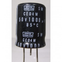 1000-50R  Electrolytic Capacitor, Radial Lead 1000 uf, 50v, Nippon Chemicon