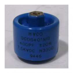 DCOG401MB Doorknob Capacitor, 400pf 7.5kv 20%