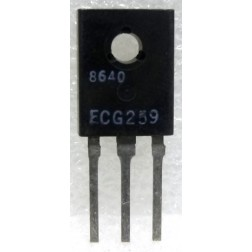 ECG259 Transistor, NPN-S, Darlington Power Amp, 75 watt, ECG