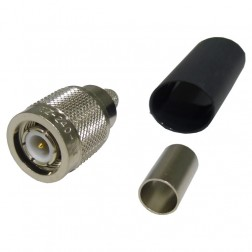 EZ240TM  TNC Male Crimp Connector, Captivated Pin, Knurled Nut, Cable Group: X, Times