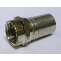 F-RG6  Type-F Male Crimp Connector, RG6  Cable Group: Q