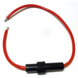 FUSELEAD-AGU  Fuselead for AGU Type Fuses, 21 inch length, 8 awg Red Wire (No Fuse)