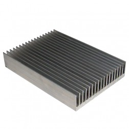 "HS100-75  Heatsink Aluminum 5-3/8"" wide x 7-1/2"" Long"